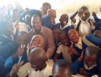 Teacher Kiondo Jumanne feel happy with pupils in the class