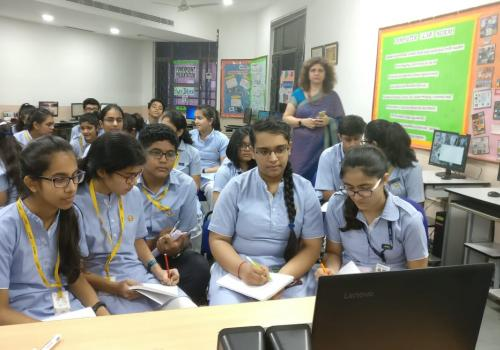 My class in a skype session