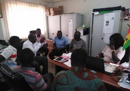 AHEFS Technical Working Group on Climate Action meeting in AHEFS office at South Suntreso in Kumasi, Ashanti.