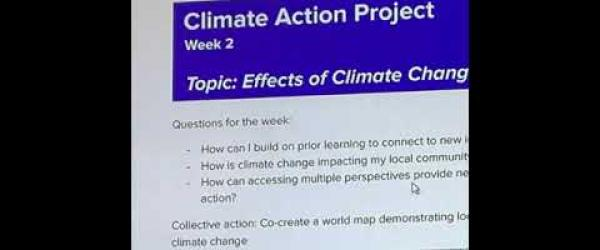 Embedded thumbnail for Climate Action Project week 2