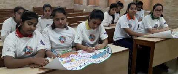 Embedded thumbnail for DLDAV MODEL SCHOOL PITAMPURA STUDENTS PARTICIPATING IN CLIMATE ACTION PROJECT